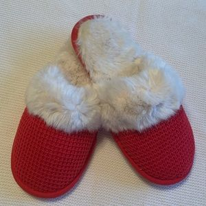 New Victoria's Secret Red Knit Slippers